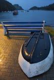 Noite na angra de Watermouth Foto de Stock Royalty Free