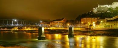 Noite na cidade Imagens de Stock