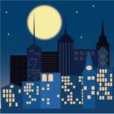 Noite na cidade Fotografia de Stock Royalty Free