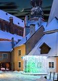 Noite na cidade europeia velha Fotografia de Stock Royalty Free