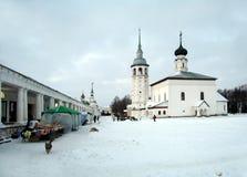 Noite na cidade Suzdal Fotos de Stock Royalty Free