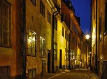 Noite na cidade velha. Foto de Stock