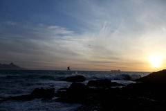 Noite na praia Fotografia de Stock Royalty Free