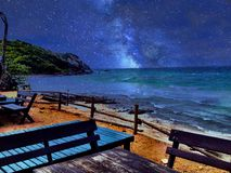 A noite na praia de Koh Lan Foto de Stock