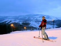 Noite nas montanhas imagens de stock royalty free