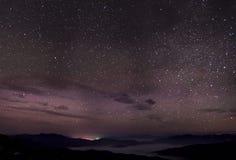 Noite nebulosa da estrela Imagem de Stock Royalty Free