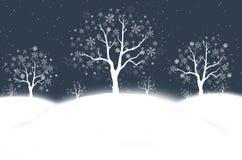 Noite nevado do inverno ilustração royalty free