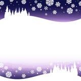 Noite nevado do inverno Fotografia de Stock Royalty Free