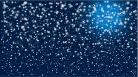 Noite nevado dos invernos com luz de lua ilustração do vetor