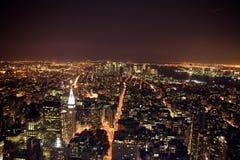 Noite New York imagem de stock royalty free