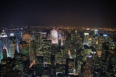 Noite New York Foto de Stock Royalty Free