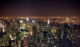 Noite New York fotos de stock royalty free