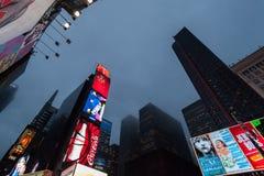 Noite New York City Imagem de Stock