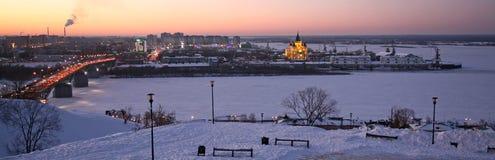 Noite Nizhny Novgorod Foto de Stock Royalty Free