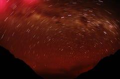Noite no BLANCA de Cordiliera imagens de stock