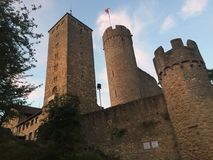 noite no castelo do heppenheim Fotos de Stock Royalty Free