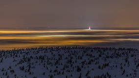 A noite no gigante Moutains/NOC w Karkonoszach Imagem de Stock Royalty Free