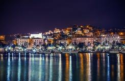 Noite no La Spezia fotografia de stock