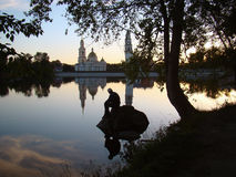 Noite no lago Imagem de Stock Royalty Free