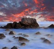 Noite no mar Fotografia de Stock Royalty Free