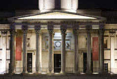 Noite no National Gallery imagem de stock