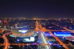 Noite no Pequim imagem de stock royalty free