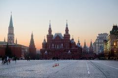 Noite no quadrado vermelho em Moscou Foto de Stock