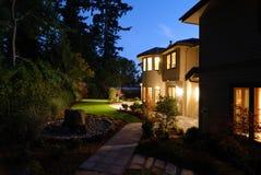 Noite no quintal Imagem de Stock Royalty Free