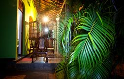 Noite no recurso tropical fotos de stock royalty free