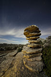 Noite no Torcal Foto de Stock Royalty Free