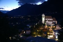 Noite nos alpes 2 Foto de Stock Royalty Free
