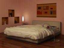 Noite nos quartos ilustração stock