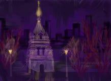 Noite Omsk Fotografia de Stock Royalty Free