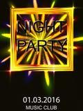 Noite para fora Disco da dança Uma salva dos fogos-de-artifício Imagens de Stock Royalty Free