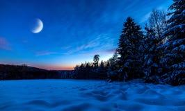 Noite polar Foto de Stock