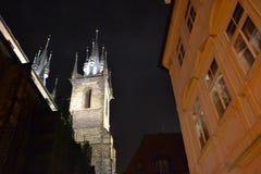 Noite Praga imagem de stock royalty free