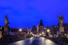 Noite Praga Imagens de Stock
