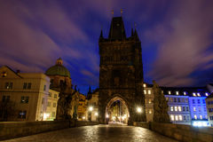 Noite Praga Foto de Stock
