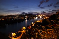 Noite Praga de Vysehrad Imagens de Stock Royalty Free