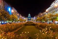 Noite Praga, república checa Fotos de Stock Royalty Free