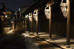 Noite quieta em uma cidade antiga fotos de stock royalty free