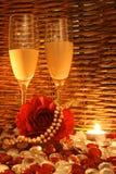Noite romântica fotos de stock royalty free