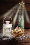 Noite santamente da noite silenciosa Fotografia de Stock
