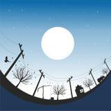 Noite Scape ilustração royalty free
