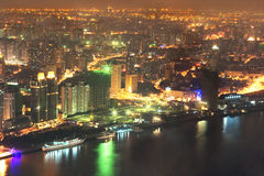 Noite Shanghai 1 fotos de stock royalty free