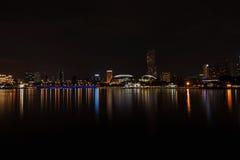 Noite Singapore Fotografia de Stock Royalty Free