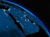 Noite sobre a península árabe ilustração do vetor