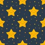 A noite stars o teste padrão sem emenda ilustração stock