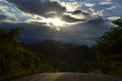 Noite Sun Imagens de Stock Royalty Free