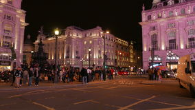 Noite Timelapse - Eros Statue do circo de Piccadilly video estoque